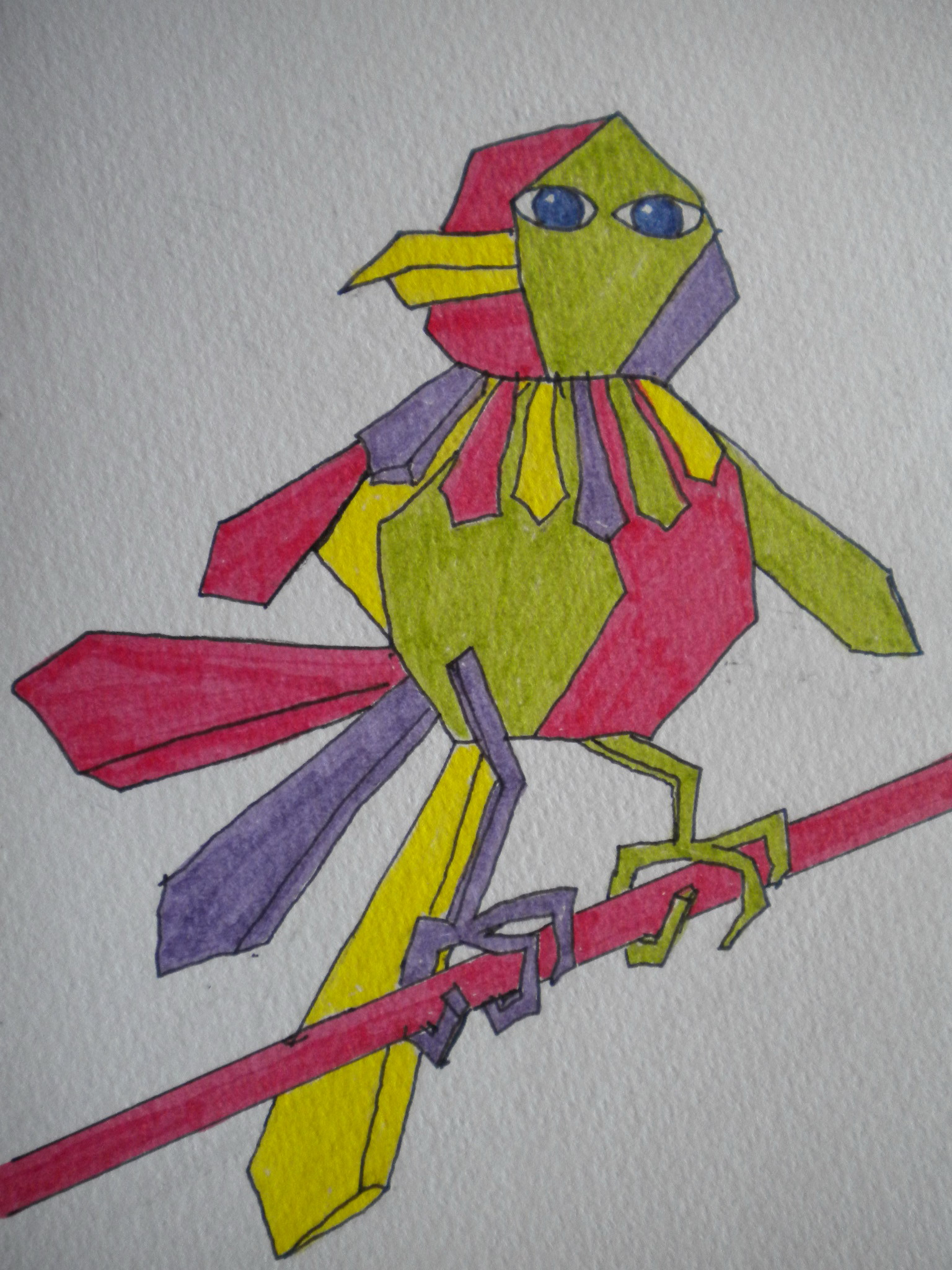 This is a graphic of Gratifying Picasso Bird Drawing