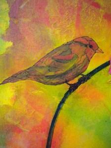 Bird With FlowersE