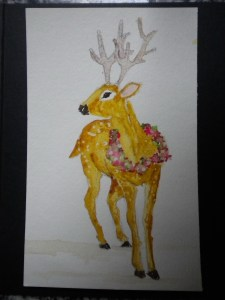 WC_Reindeer With Wreath